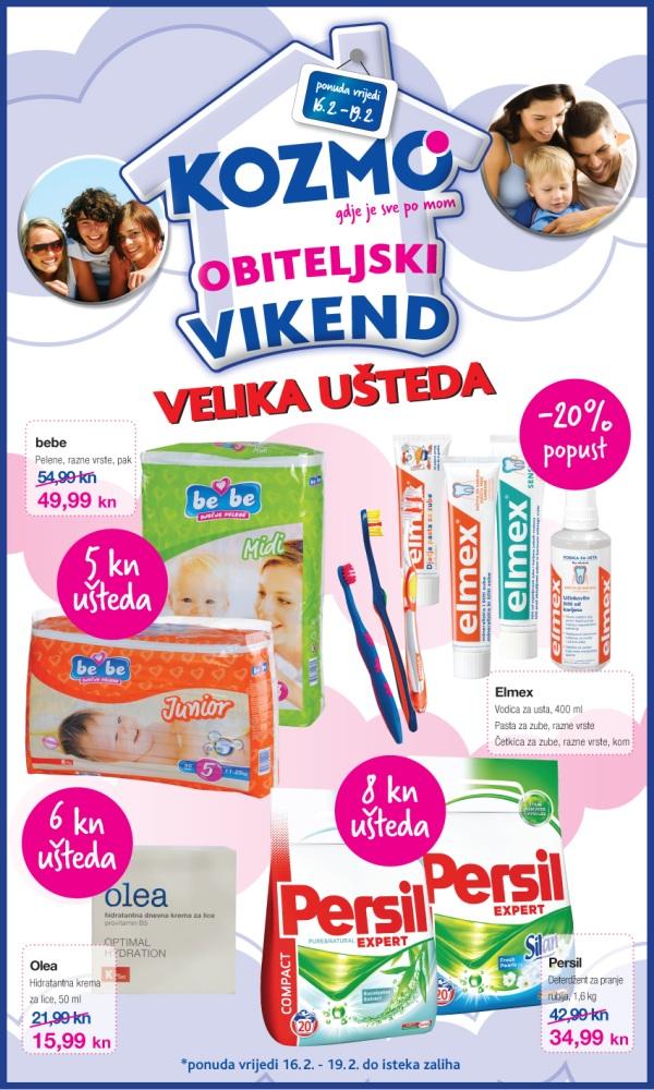 Kozmo katalog-obiteljski vikend od 16.2. do 19.2.