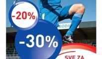 Intersport popust na opremu za nogomet