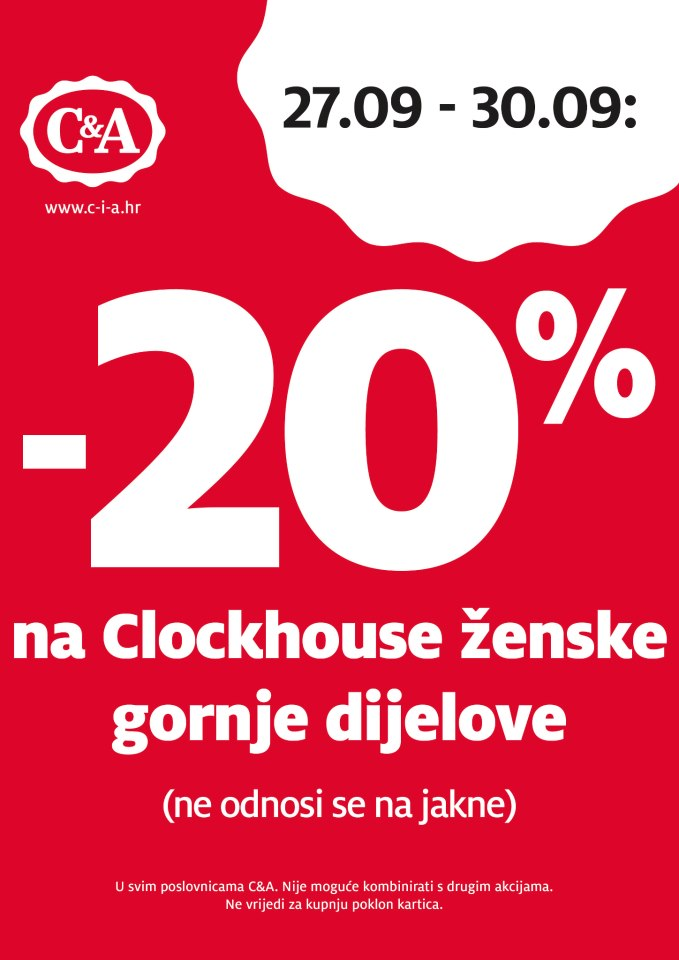 C&A popust na Clockhouse