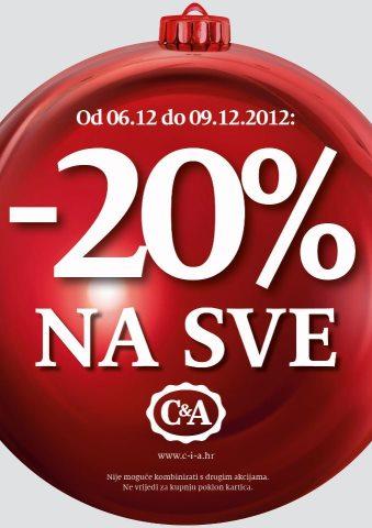 C&A popust na cjelokupnu kupnju
