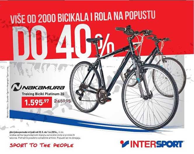 Akcija na bicikle i role u Intersportu
