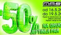 Mass akcija 50% na drugi jeftiniji par!