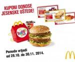 McDonald's Kuponi studeni 2014