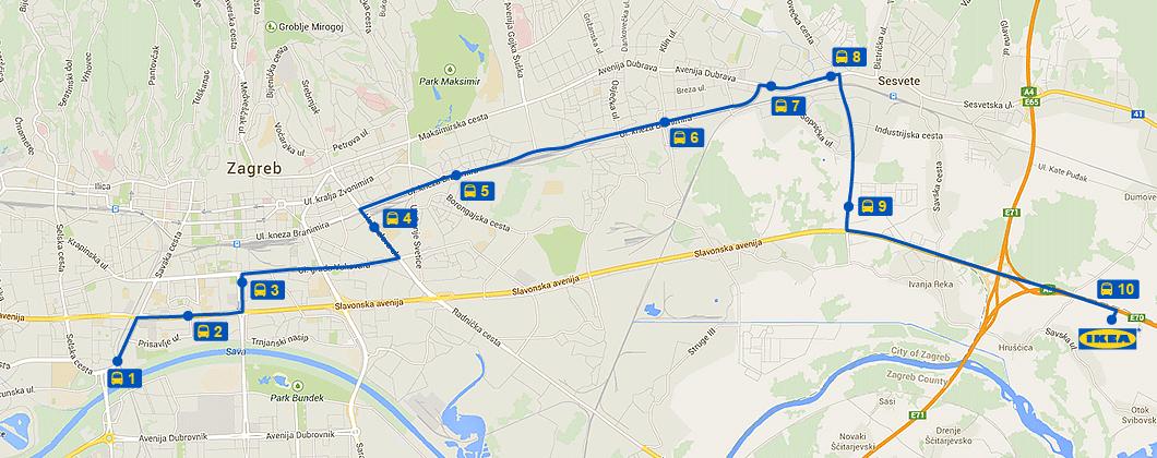 IKEA autobus Zagreb
