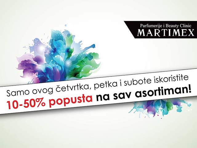 Parfumerija Martimex akcija