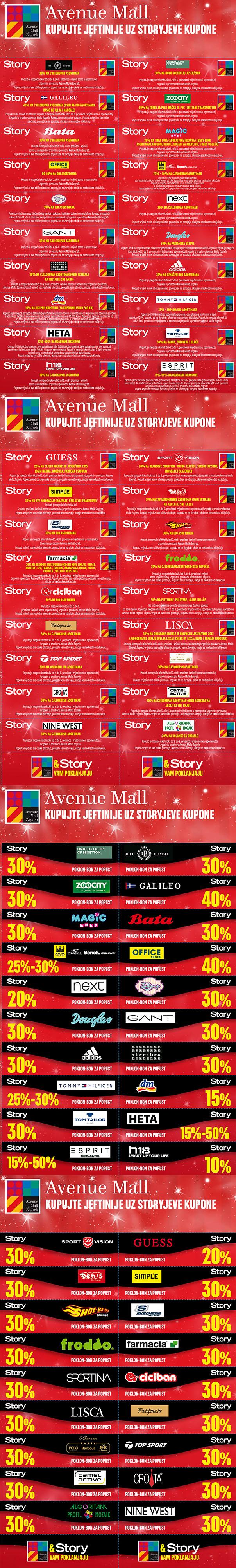 Story kuponi za Avenue Mall prosinac 2015